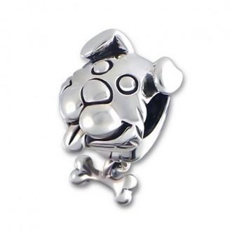 "Stříbrný korálek na náramek Pandora ""Pes"". Ag 925/1000"