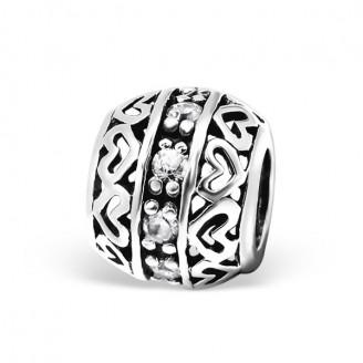 "Stříbrný korálek se zirkony na Pandora náramek ""Brooke"". Ag 925/1000"