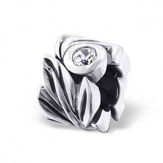 """Stříbrný korálek se zirkonem na Pandora náramek """"Empire"""". Ag 925/1000"""