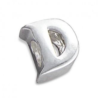 """Stříbrný přívěsek na náramek Pandora """"Písmeno D"""". Ag 925/1000"""