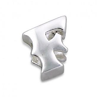 """Stříbrný přívěsek na náramek Pandora """"Písmeno F"""". Ag 925/1000"""