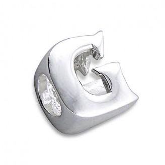 """Stříbrný přívěsek na náramek Pandora """"Písmeno G"""". Ag 925/1000"""