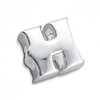 """Stříbrný přívěsek na náramek Pandora """"Písmeno H"""". Ag 925/1000"""