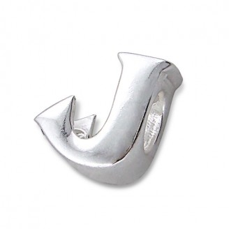 """Stříbrný přívěsek na náramek Pandora """"Písmeno J"""". Ag 925/1000"""