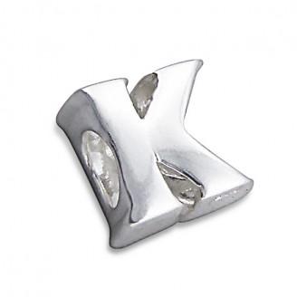 """Stříbrný přívěsek na náramek Pandora """"Písmeno K"""". Ag 925/1000"""