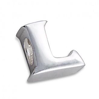 """Stříbrný přívěsek na náramek Pandora """"Písmeno L"""". Ag 925/1000"""