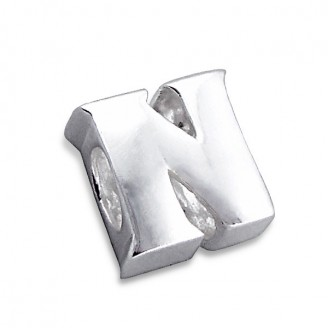 """Stříbrný přívěsek na náramek Pandora """"Písmeno N"""". Ag 925/1000"""