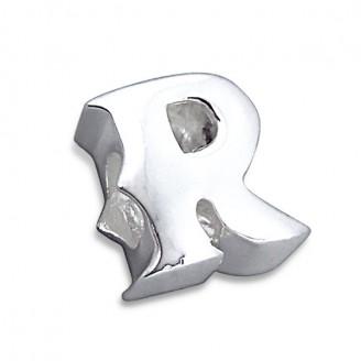 """Stříbrný přívěsek na náramek Pandora """"Písmeno R"""". Ag 925/1000"""