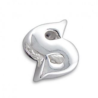 """Stříbrný přívěsek na náramek Pandora """"Písmeno S"""". Ag 925/1000"""