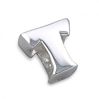 """Stříbrný přívěsek na náramek Pandora """"Písmeno T"""". Ag 925/1000"""