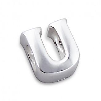"""Stříbrný přívěsek na náramek Pandora """"Písmeno U"""". Ag 925/1000"""