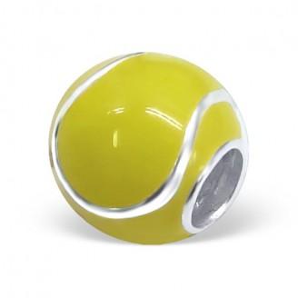 "Stříbrný korálek na náramek ""Tenisový míček"". Ag 925/1000"