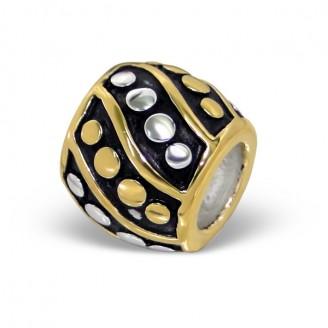 """Stříbrný pozlacený korálek na náramek Pandora """"Potestas"""". Ag 925/1000"""
