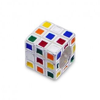 """Korálek stříbrný na náramek Pandora """"Rubikova kostka"""". Ag 925/1000"""