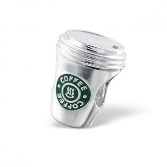 "Korálek stříbrný na Pandora náramek ""šálek kávy"". Ag 925/1000"