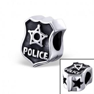 """Stříbrný korálek na Pandora náramek """"Policie"""". Ag 925/1000"""