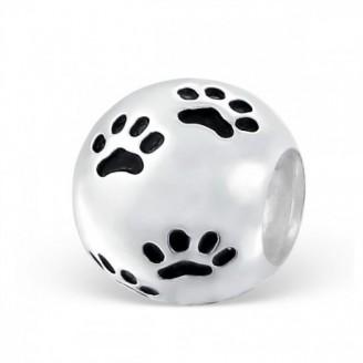 "Stříbrný korálek na náramek Pandora ""Stopy zvířat"" 3. Ag 925/1000"