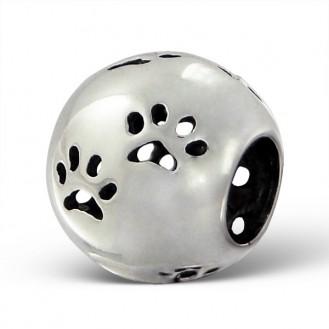 "Stříbrný korálek na Pandora náramek ""Stopy zvířat 2"". Ag 925/1000"