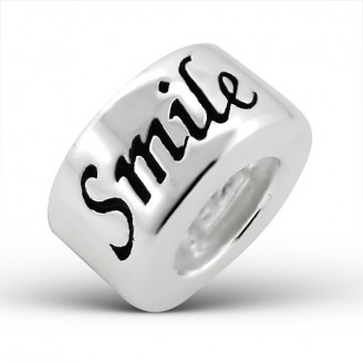 """Korálek stříbrný na náramek Pandora """"Usměj se"""". Ag 925/1000"""