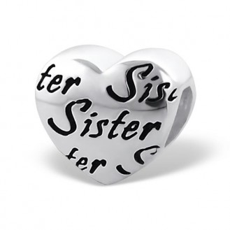 "Korálek stříbrný na náramek Pandora ""Sestra"". Ag 925/1000"