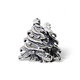 "Stříbrný korálek na náramek Pandora ""Vánoční stromeček"". Ag 925/1000"