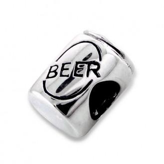 "Stříbrný korálek na náramek Pandora ""Plechovka piva"". Ag 925/1000"