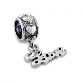 """Stříbrný přívěsek """"Love"""" na Pandora náramek. Ag 925/1000"""