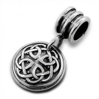 "Stříbrný korálek s přívěskem ""Triquetra"" na Pandora náramek. Ag 925/1000"