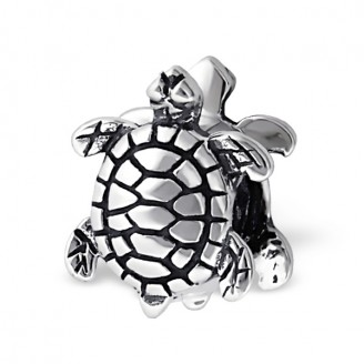 "Stříbrný korálek na Pandora náramek ""Želva"". Ag 925/1000"