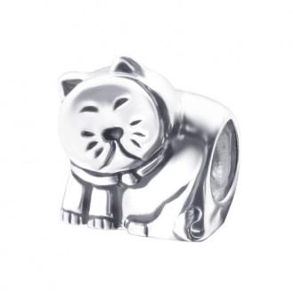 "Stříbrný korálek na Pandora náramek ""Kočka Míca"". Ag 925/1000"