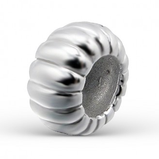 """Korálek stříbrný na náramek Pandora """"Stříbrná bábovka"""". Ag 925/1000"""