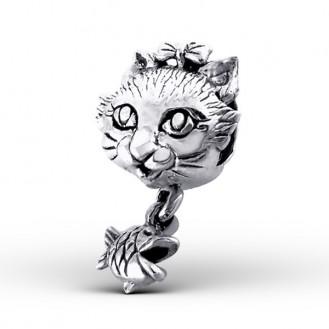 "Korálek stříbrný na náramek Pandora ""Kočička"" I. Ag 925/1000"