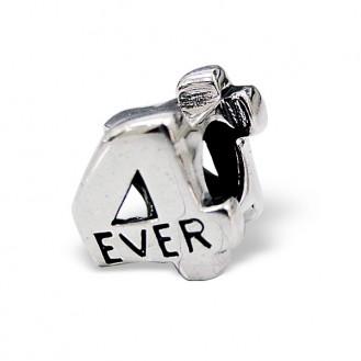 """Stříbrný korálek na náramek Pandora """"4 ever"""". Ag 925/1000"""