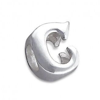 """Stříbrný přívěsek na náramek Pandora """"Písmeno C"""". Ag 925/1000"""