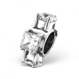 "Stříbrný korálek se zirkony na Pandora náramek ""Ornella"". Ag 925/1000"