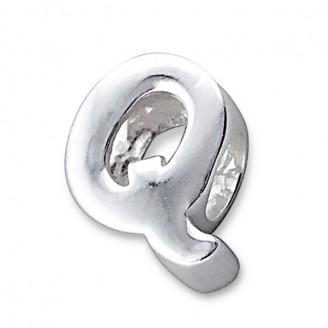 """Stříbrný přívěsek na náramek Pandora """"Písmeno Q"""". Ag 925/1000"""