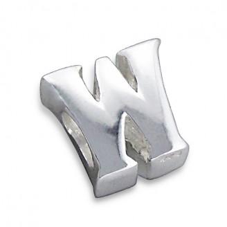"""Stříbrný přívěsek na náramek Pandora """"Písmeno W"""". Ag 925/1000"""