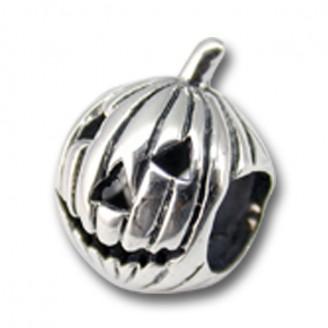 "Korálek stříbrný na náramek Pandora ""Halloween"". Ag 925/1000"