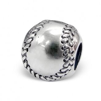 "Korálek stříbrný na náramek Pandora ""Baseball"". Ag 925/1000"