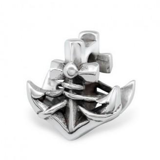 "Korálek stříbrný na náramek Pandora ""Kotva"". Ag 925/1000"