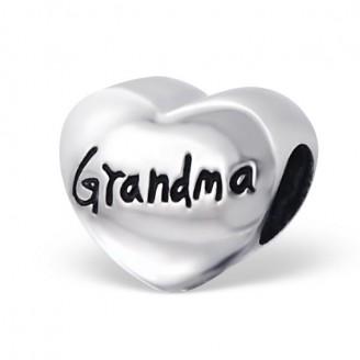 "Korálek stříbrný na Pandora náramek ""Babička"". Ag 925/1000"