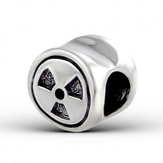 "Korálek stříbrný na náramek Pandora ""Radiation"". Ag 925/1000"