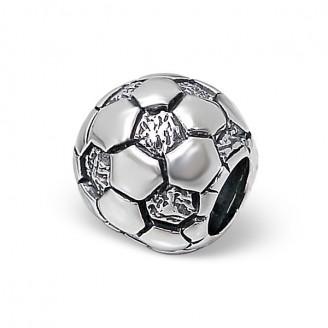 "Korálek stříbrný na náramek Pandora ""Fotbalový míč"". ox. Ag 925/1000"