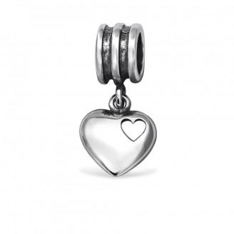 "Korálek stříbrný na Pandora náramek ""In amore"". Ag 925/1000"