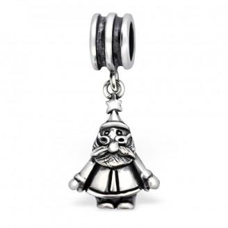 "Stříbrný korálek s přívěskem ""Santa Claus"" na Pandora náramek. Ag 925/1000"