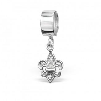"""Stříbrný přívěsek se zirkony na náramek Pandora """"Lilie"""". Ag 925/1000"""