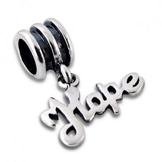 """Stříbrný korálek s přívěskem """"Naděje"""" na Pandora náramek. Ag 925/1000"""