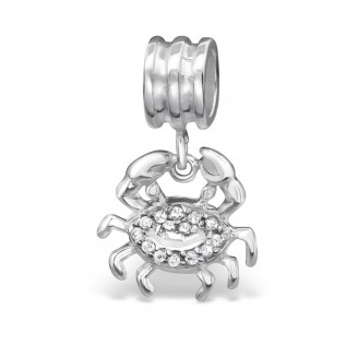 """Korálek stříbrný """"Znamení zvěrokruhu Rak"""" na Pandora náramek. Ag 925/1000"""