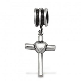 """Korálek stříbrný na Pandora náramek """"Křížek"""". Ag 925/1000"""