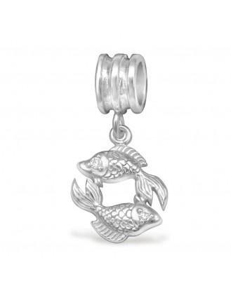 """Přívěsek stříbrný se zirkony na Pandora náramek """"Rybičky"""". Ag 925/1000"""